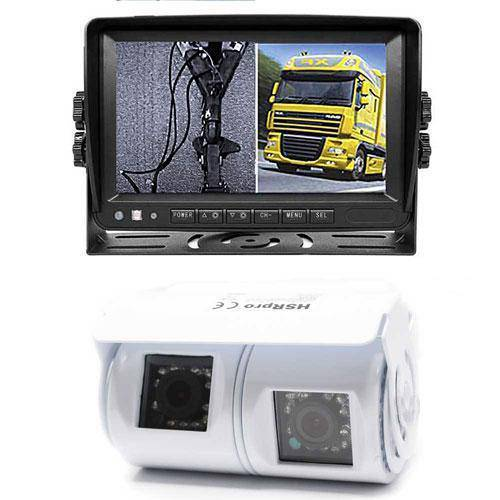 Dual Rückfahrkamera mit HD Monitor für Anhängerkupplung & Wohnmobil