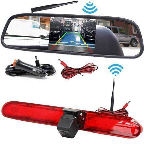 Kabellose Rückfahrkamera mit Spiegelmonitor für Peugeot Expert, Citroen Dispatch & Toyota Proace