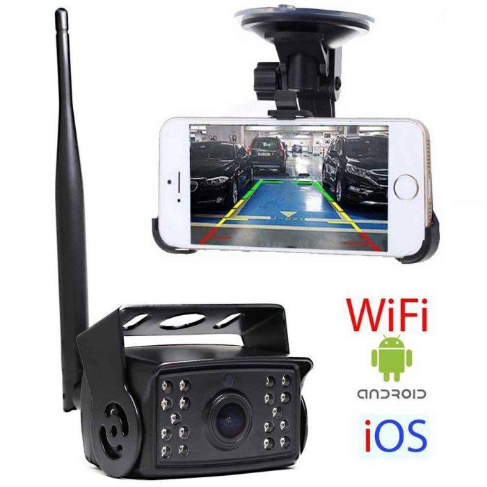 Wifi Rückfahrkamera für LKW, Bus und Transporter für Android und IOS Handy & Tablet